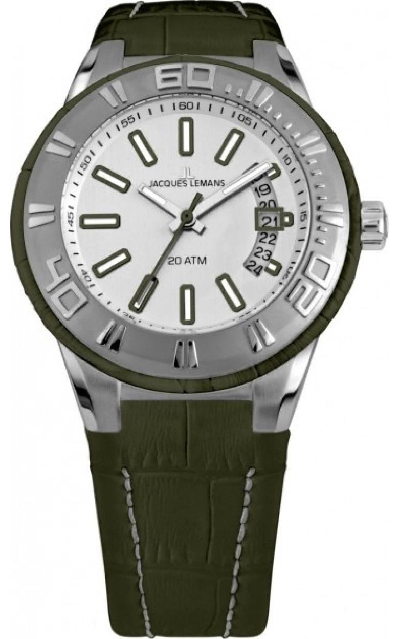 1-1770E  водонепроницаемые кварцевые наручные часы Jacques Lemans для мужчин  1-1770E