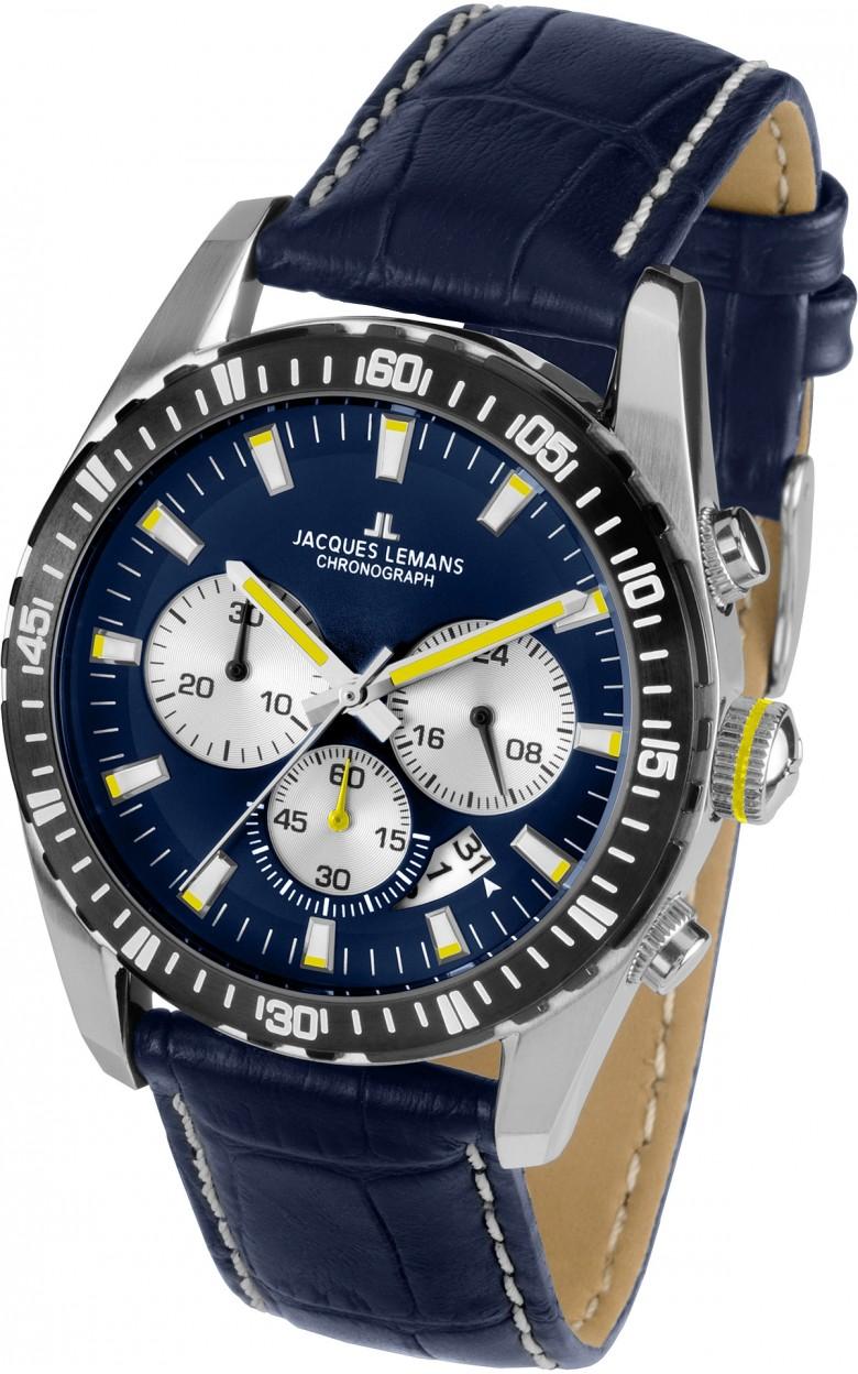 1-1801K  кварцевые наручные часы Jacques Lemans для мужчин  1-1801K