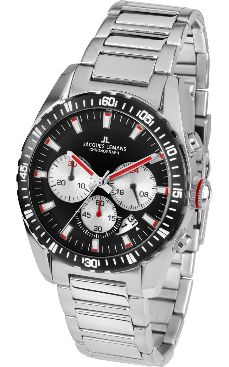 1-1801L  мужские кварцевые наручные часы Jacques Lemans  1-1801L