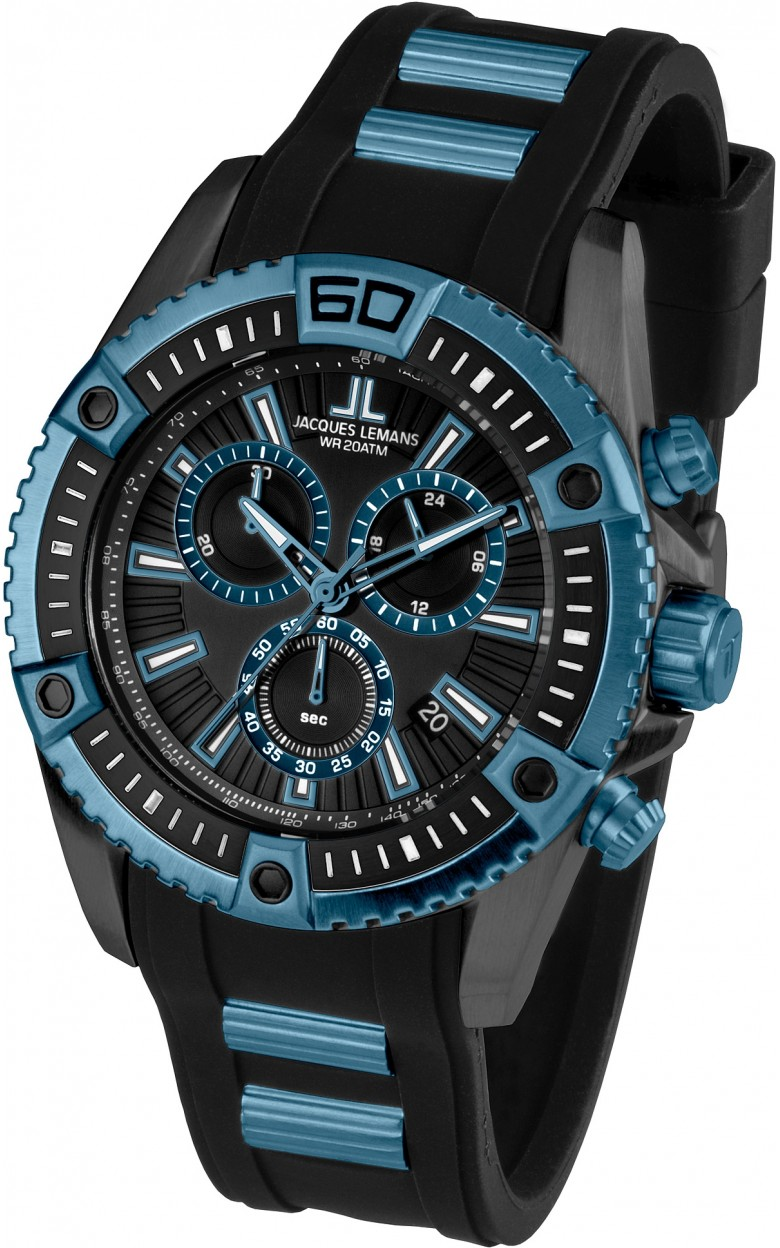 1-1805C  водонепроницаемые кварцевые наручные часы Jacques Lemans для мужчин  1-1805C