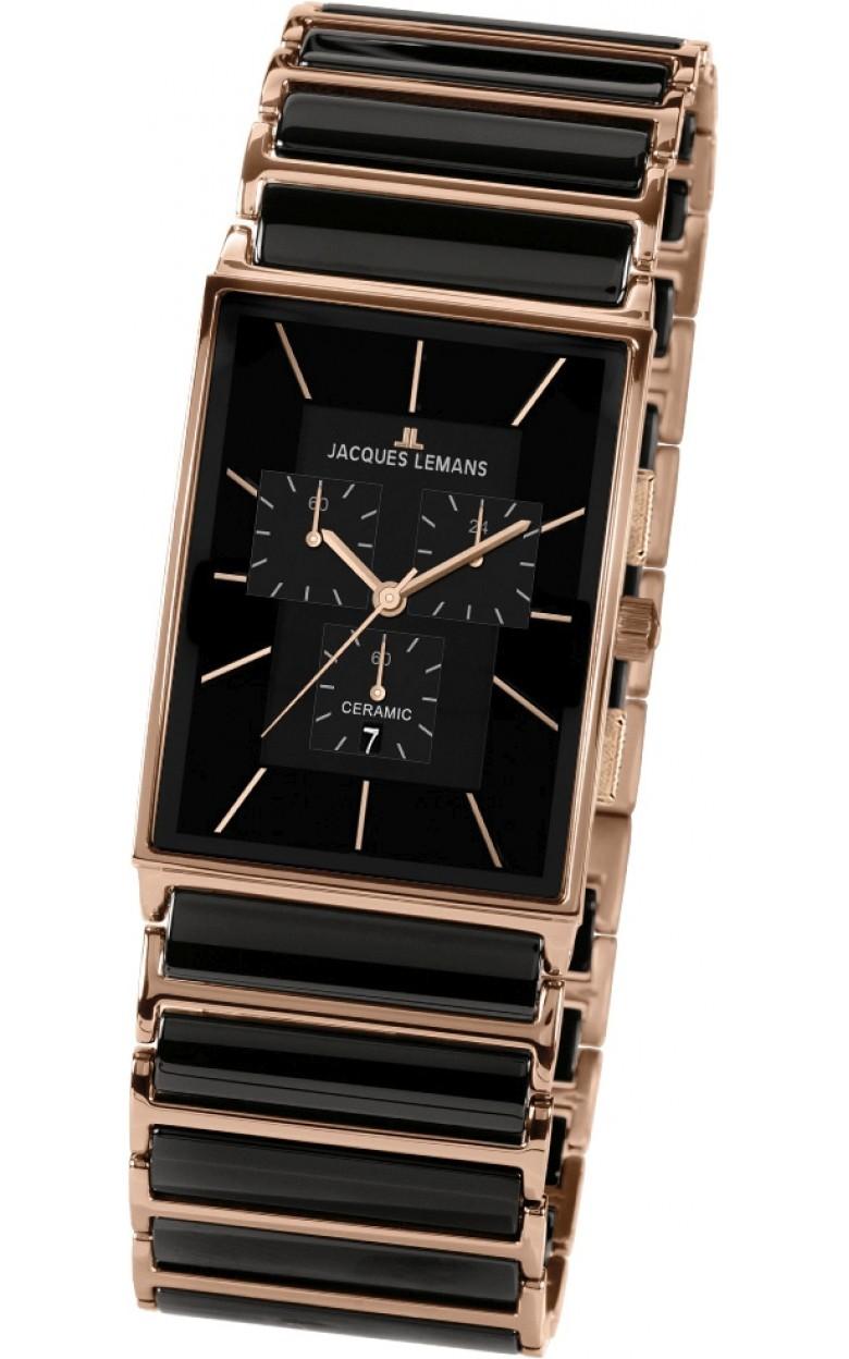 1-1900B  кварцевые наручные часы Jacques Lemans для мужчин с упрочненным стеклом 1-1900B