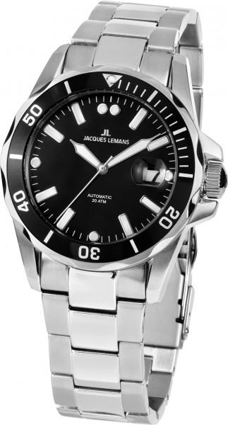1-2014A  водонепроницаемые механические наручные часы Jacques Lemans для мужчин  1-2014A