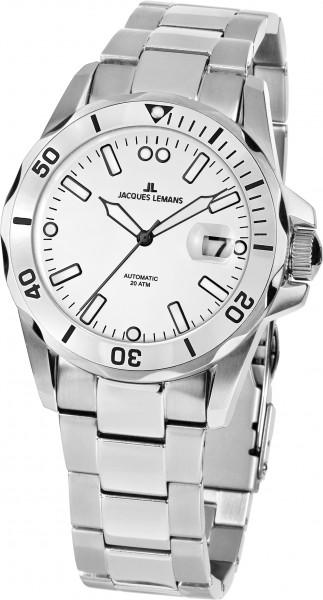 1-2014G  водонепроницаемые механические наручные часы Jacques Lemans для мужчин  1-2014G