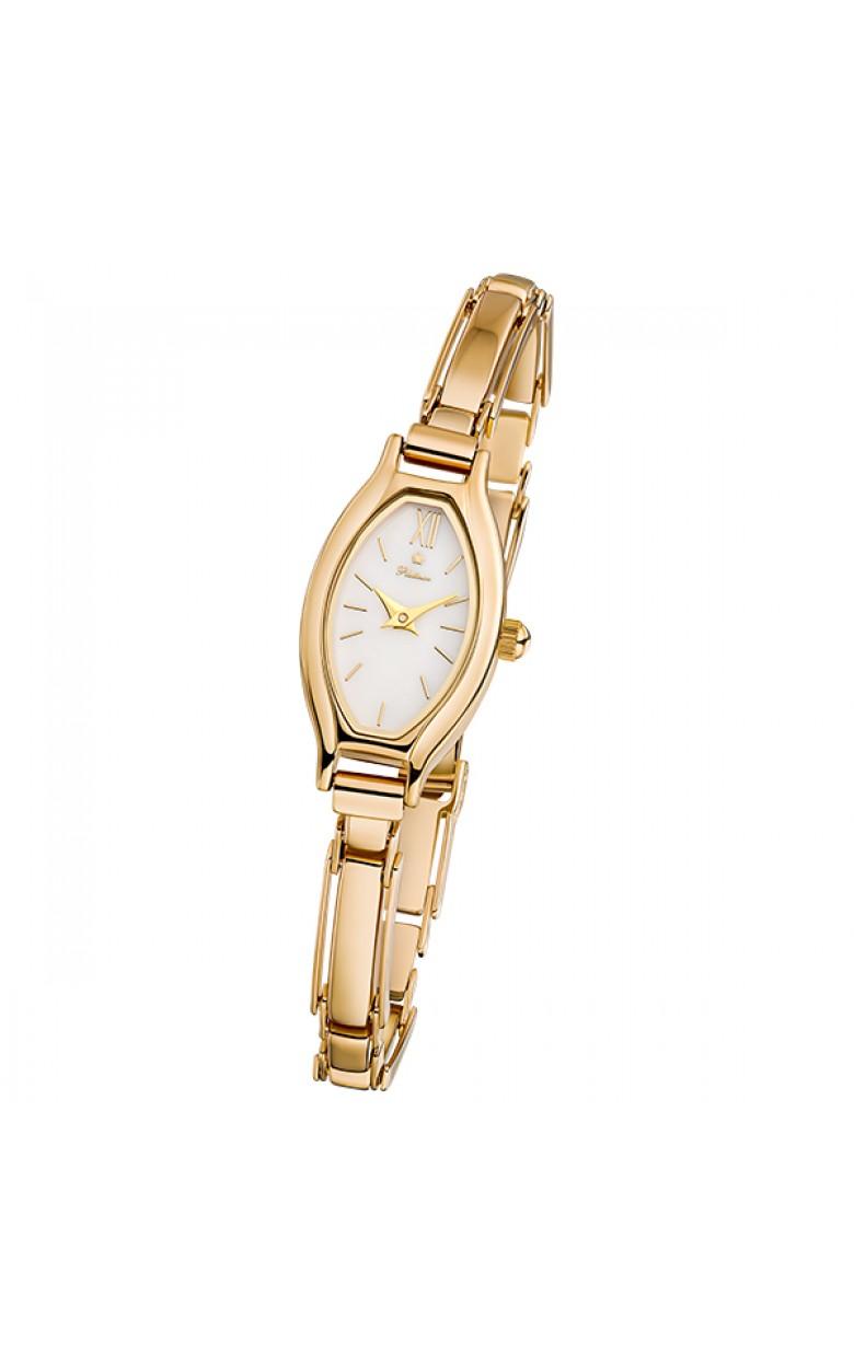 """98050.116 российские золотые кварцевые наручные часы Platinor """"Лаура"""" для женщин  98050.116"""