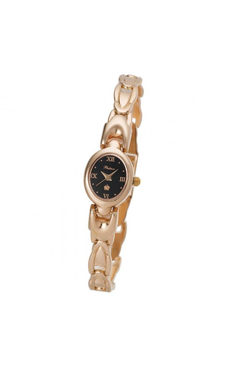 """200450.516 российские золотые женские кварцевые часы Platinor """"Марго""""  200450.516"""