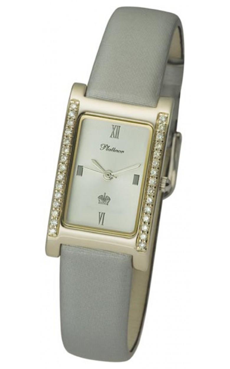 """200141.216 российские золотые кварцевые наручные часы Platinor """"Камилла"""" для женщин  200141.216"""