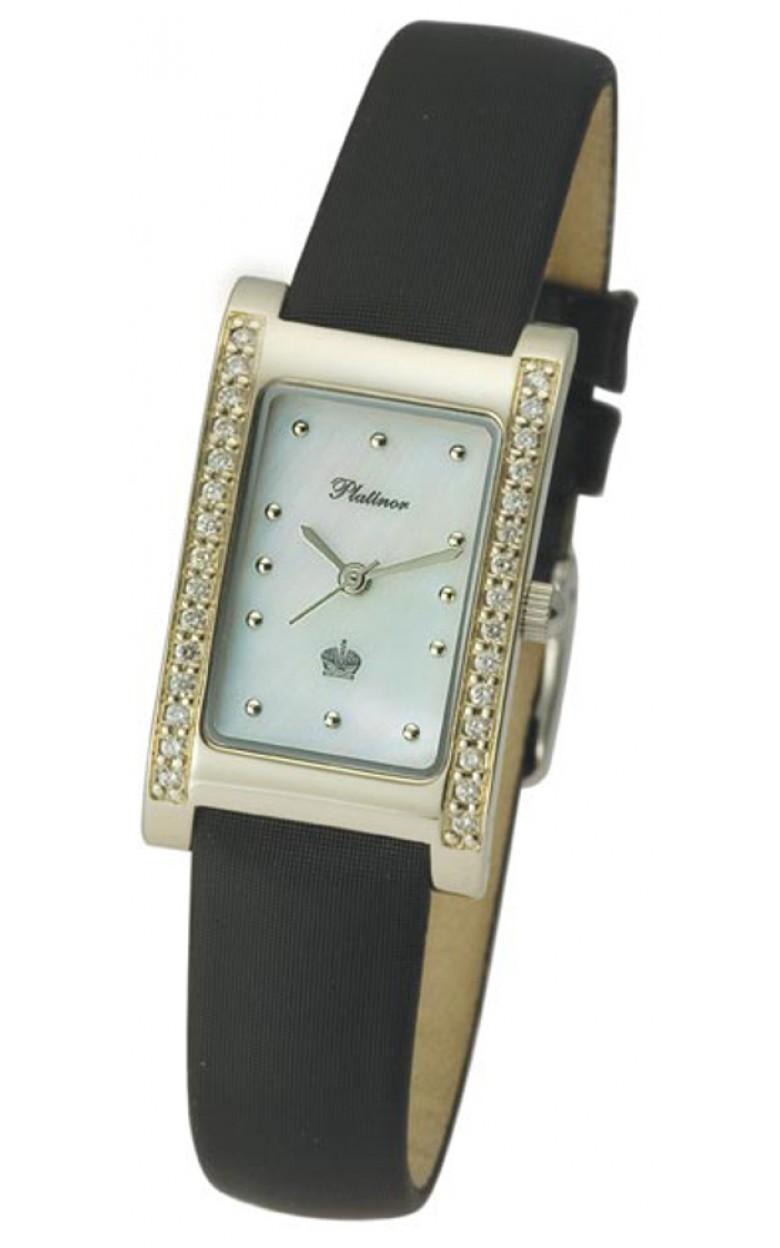 """200141.301 российские золотые кварцевые наручные часы Platinor """"Камилла"""" для женщин  200141.301"""