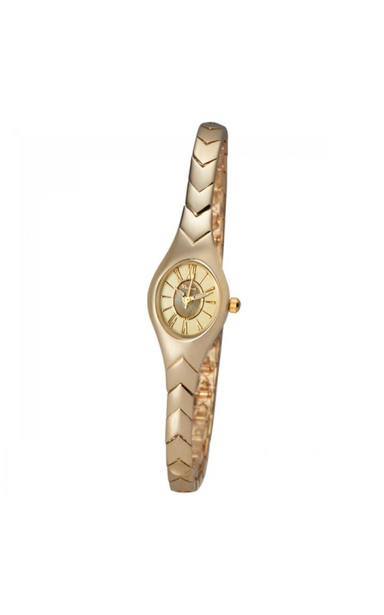 """70660.420 российские золотые кварцевые наручные часы Platinor """"Джейн"""" для женщин  70660.420"""