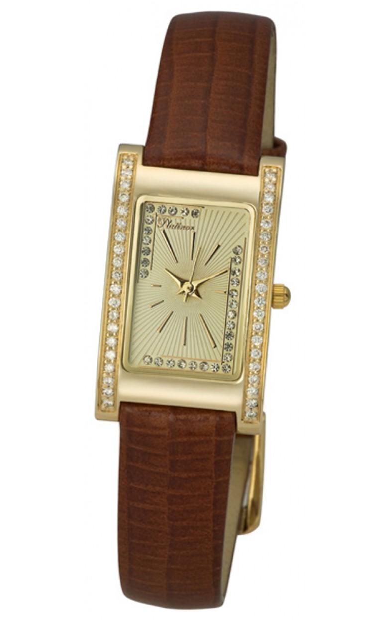 """200161.424 российские золотые кварцевые наручные часы Platinor """"Камилла"""" для женщин  200161.424"""