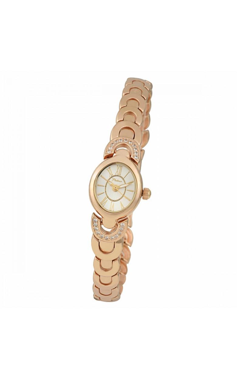 """78756.217 российские золотые кварцевые наручные часы Platinor """"Паула"""" для женщин  78756.217"""