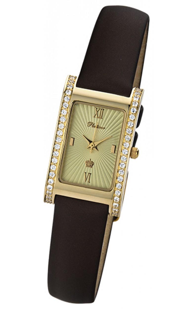 """200166.422 российские золотые женские кварцевые часы Platinor """"Камилла""""  200166.422"""