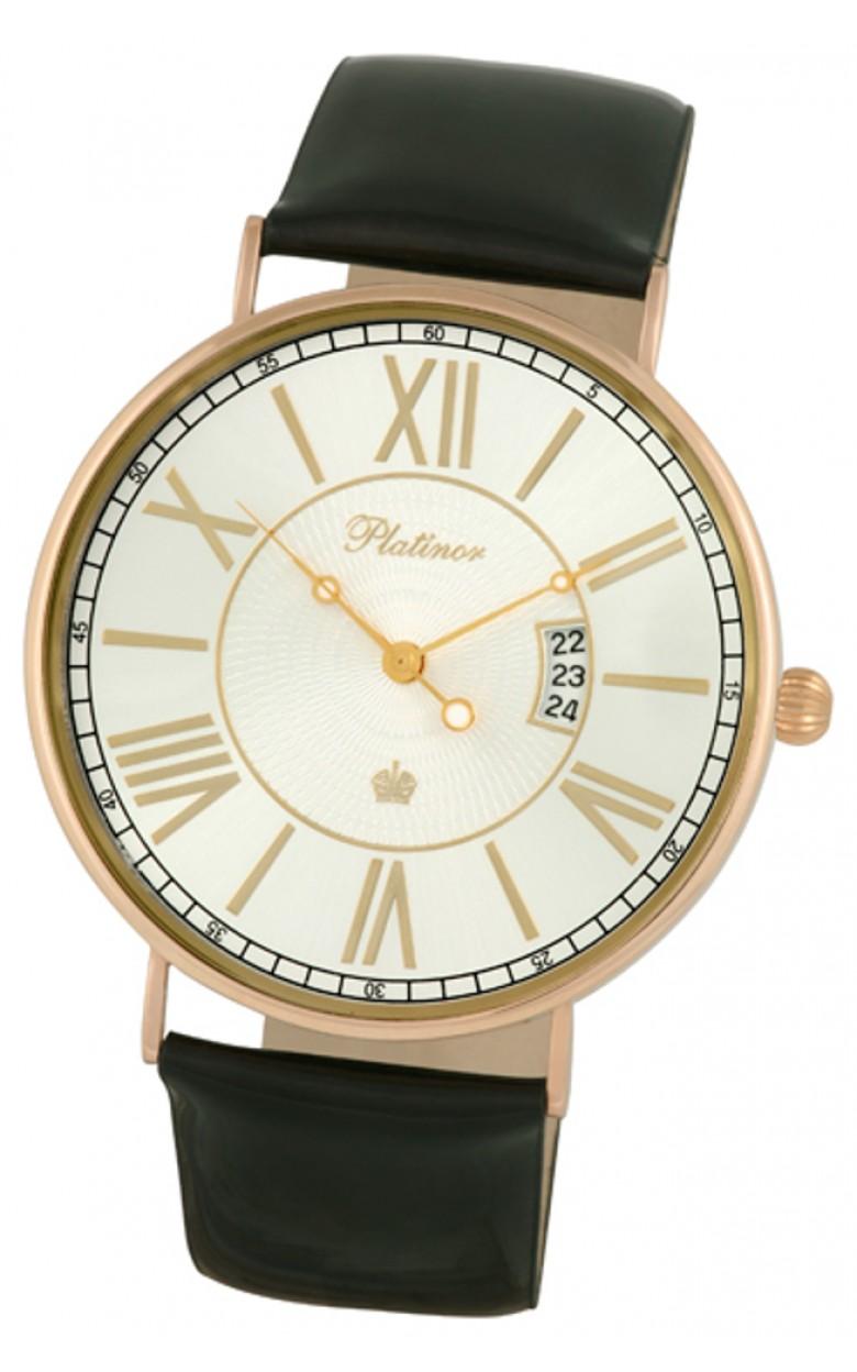 """56750.220 российские золотые кварцевые наручные часы Platinor """"Амур"""" для женщин  56750.220"""