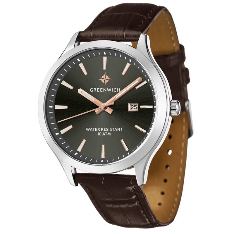 GW 041.12.34  мужские кварцевые наручные часы Greenwich  GW 041.12.34