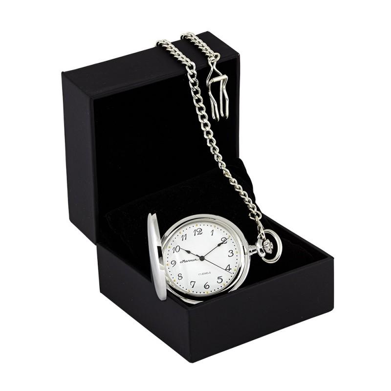 0030101 Часы карманные Молния под серебро арабск.циф.