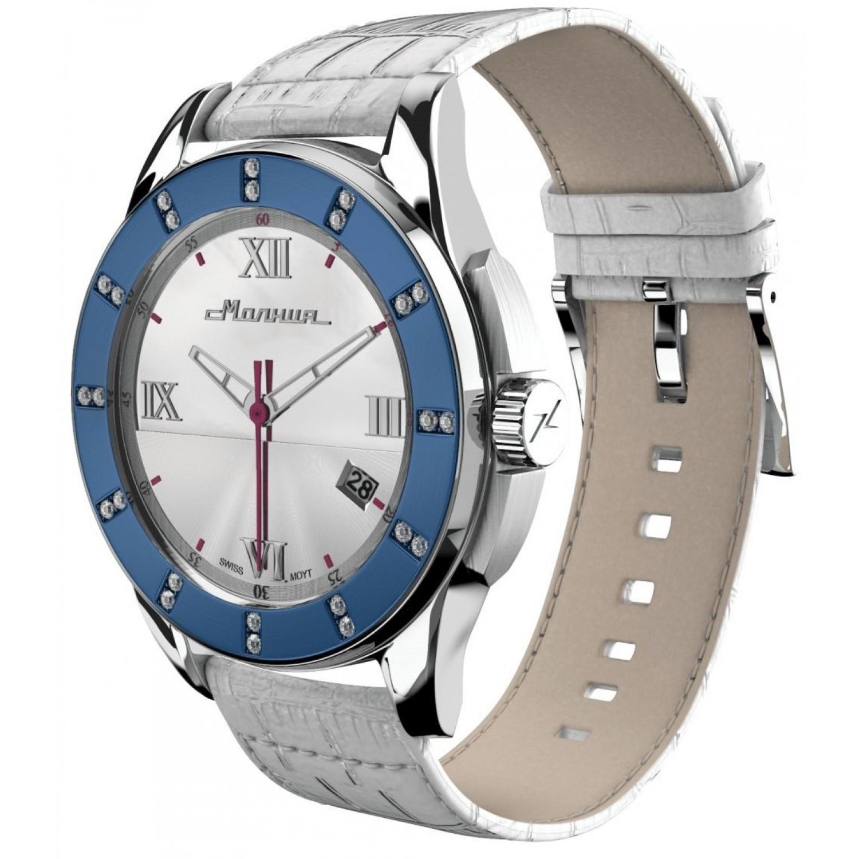 """00701004 российские женские кварцевые часы Молния """"Жемчуг""""  00701004"""