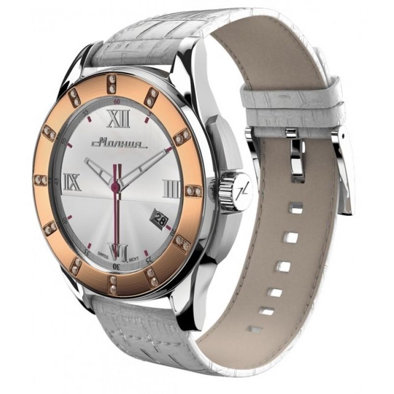 """00701005 российские кварцевые наручные часы Молния """"Жемчуг"""" для женщин  00701005"""