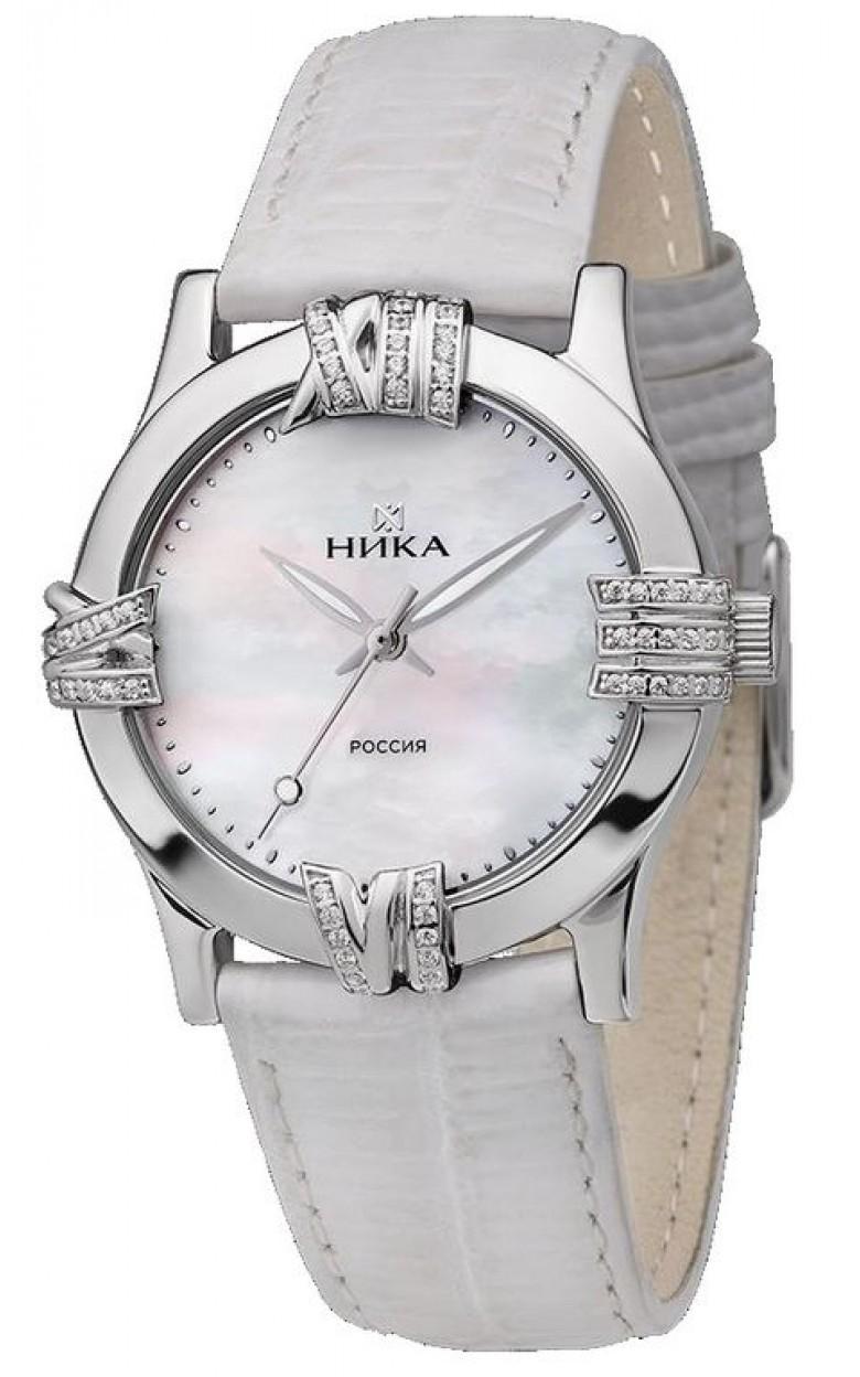 1020.2.9.37A Часы наручные кварцевые Ника серебро 925* вставка фианит 1020.2.9.37A
