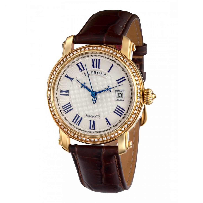 P031-68/2824 российские золотые мужские механические наручные часы Petroff  P031-68/2824