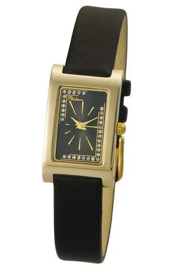 """200160.524 российские золотые кварцевые наручные часы Platinor """"Камилла"""" для женщин  200160.524"""
