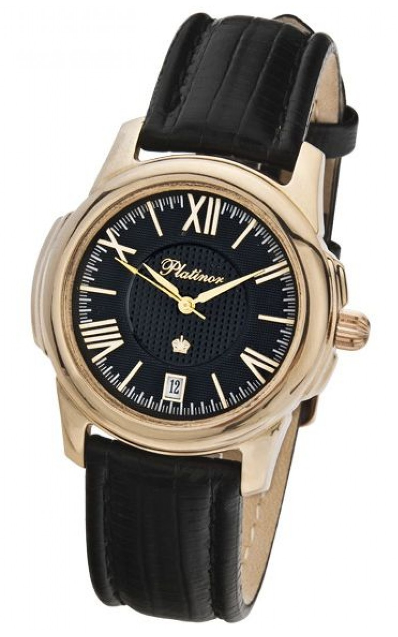"""41250.520 российские золотые механические наручные часы Platinor """"Монако"""" для мужчин  41250.520"""