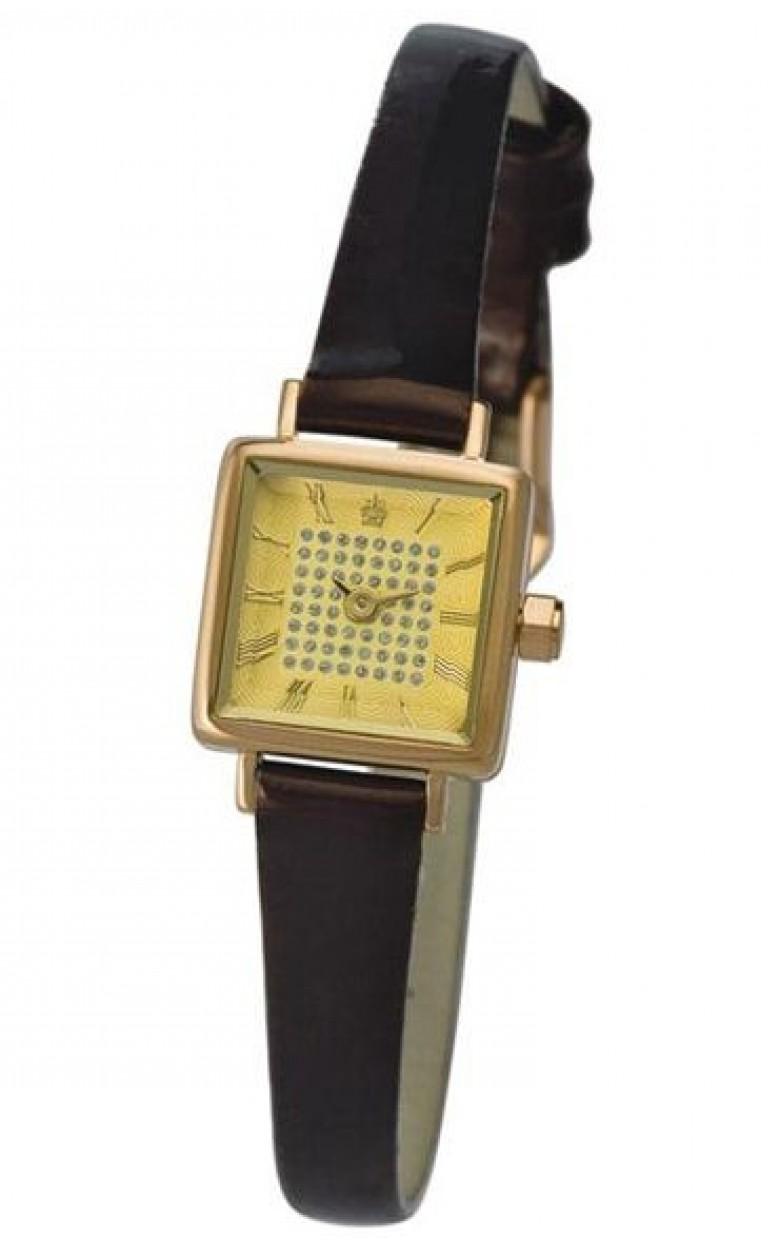 44550-1.419 российские золотые кварцевые наручные часы Platinor