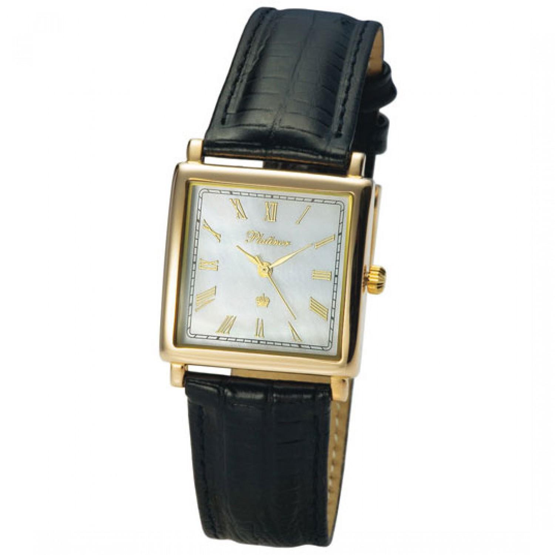 57550.315 российские золотые мужские кварцевые наручные часы Platinor
