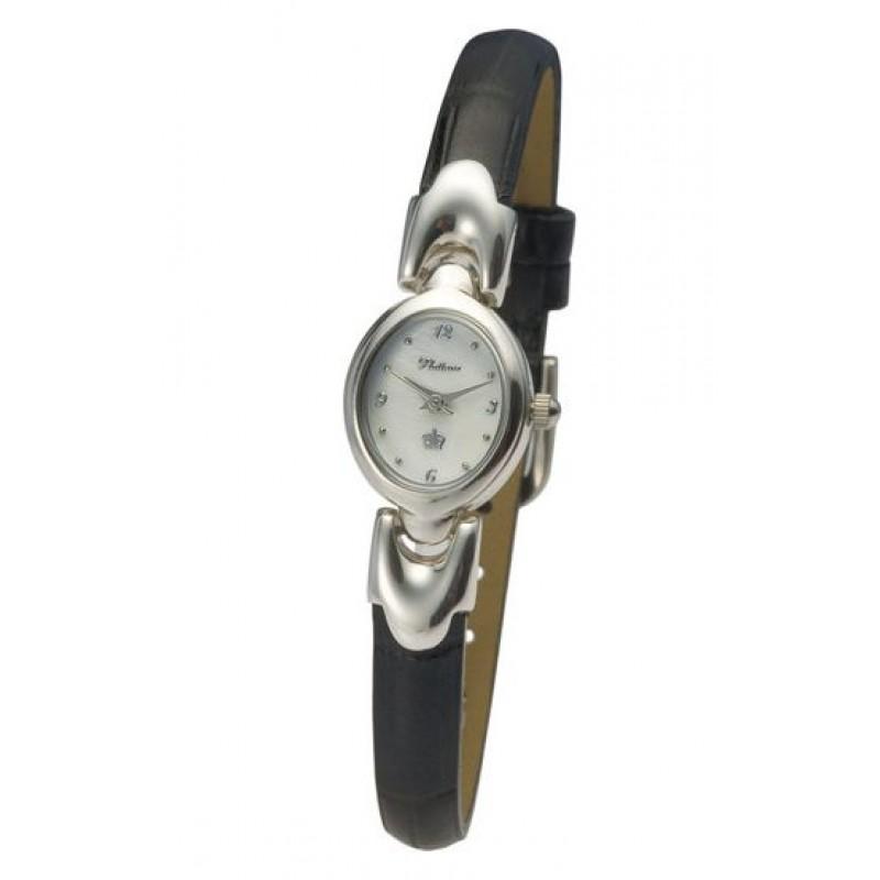 """200400.210 российские серебрянные женские кварцевые наручные часы Platinor """"Марго""""  200400.210"""