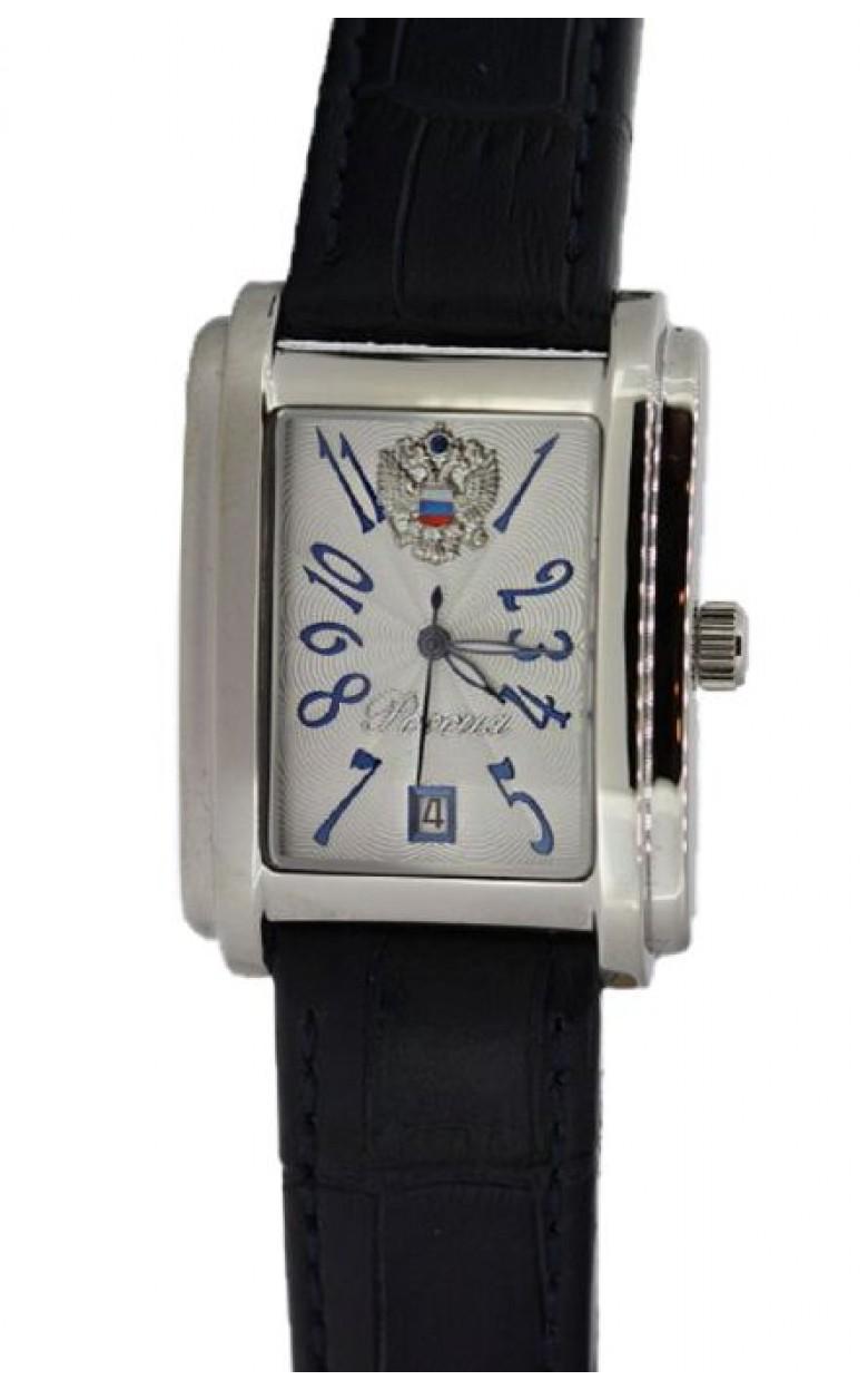 8215/5901424П российские механические наручные часы Полёт-Стиль для мужчин логотип Герб РФ  8215/5901424П