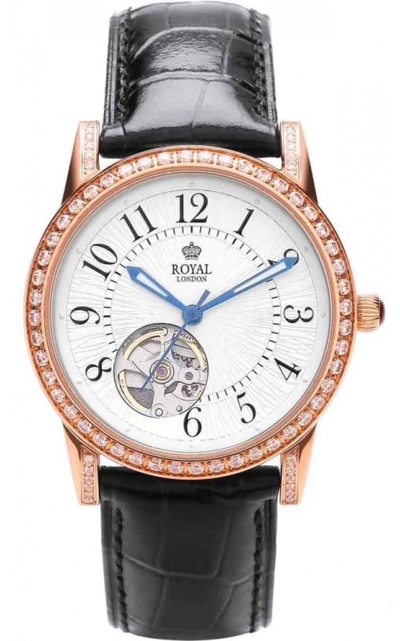 21179-03  женские механические наручные часы Royal London с упрочненным стеклом 21179-03