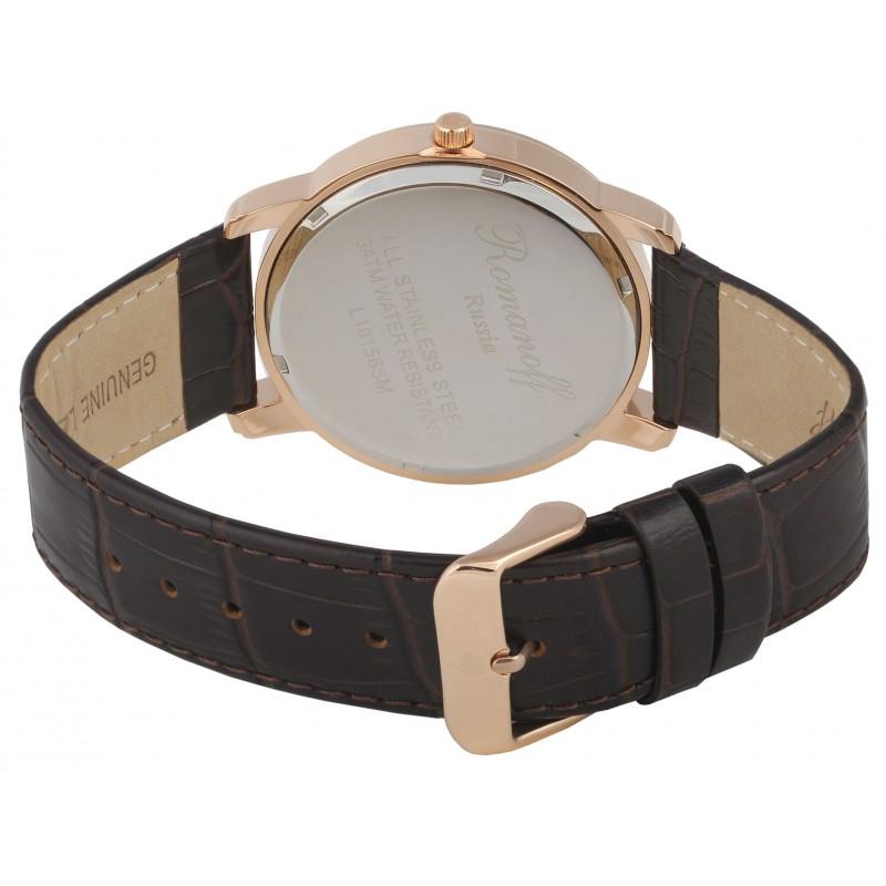 10156/1B1BR российские кварцевые наручные часы Romanoff для женщин  10156/1B1BR