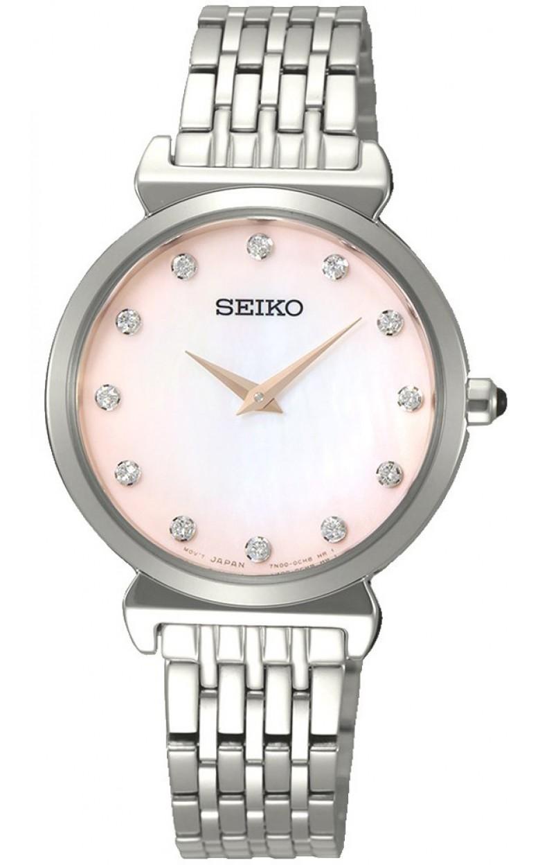 """SFQ803P1  водонепроницаемые кварцевые наручные часы Seiko """"Conceptual Series Dress"""" для женщин с сапфировым стеклом SFQ803P1"""