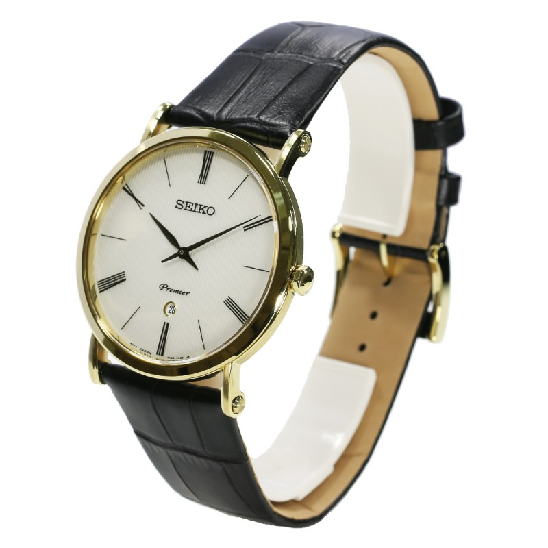 "SKP396P1  кварцевые наручные часы Seiko ""Premier"" для мужчин с сапфировым стеклом SKP396P1"