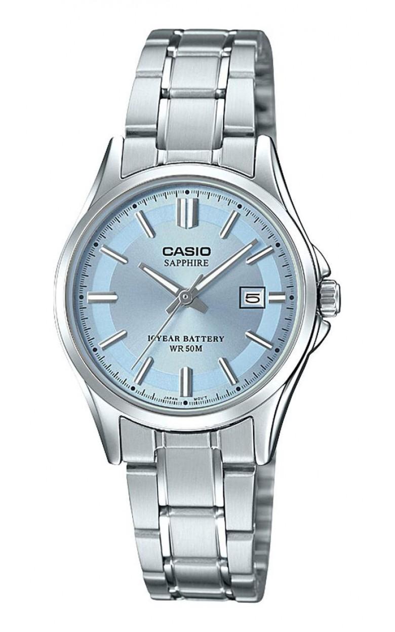 LTS-100D-2A1VEF японские кварцевые наручные часы Casio с сапфировым стеклом LTS-100D-2A1VEF