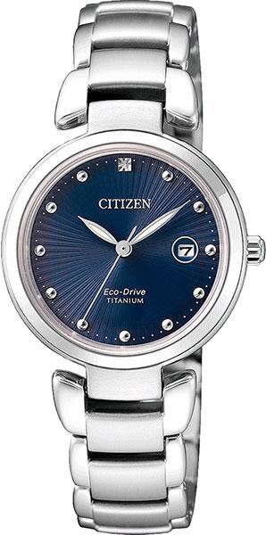 """EW2500-88L японские женские кварцевые часы Citizen """"Super Titanium""""  EW2500-88L"""