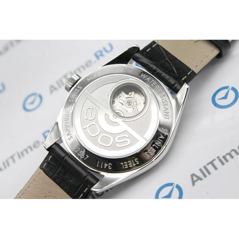 3411.131.20.54.25 швейцарские механические наручные часы Epos с сапфировым стеклом 3411.131.20.54.25