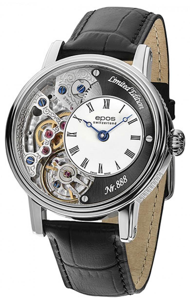 3435.313.20.25.25 швейцарские механические часы Epos с сапфировым стеклом 3435.313.20.25.25