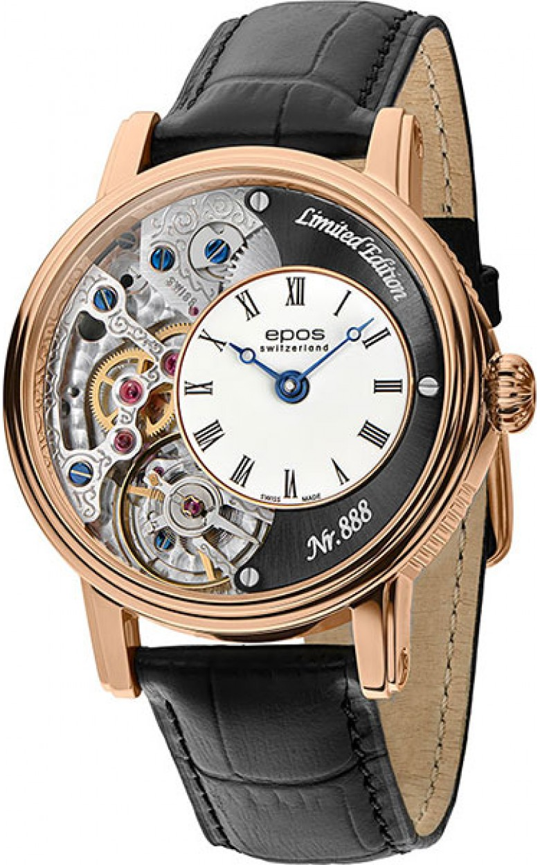 3435.313.24.25.25 швейцарские механические наручные часы Epos с сапфировым стеклом 3435.313.24.25.25