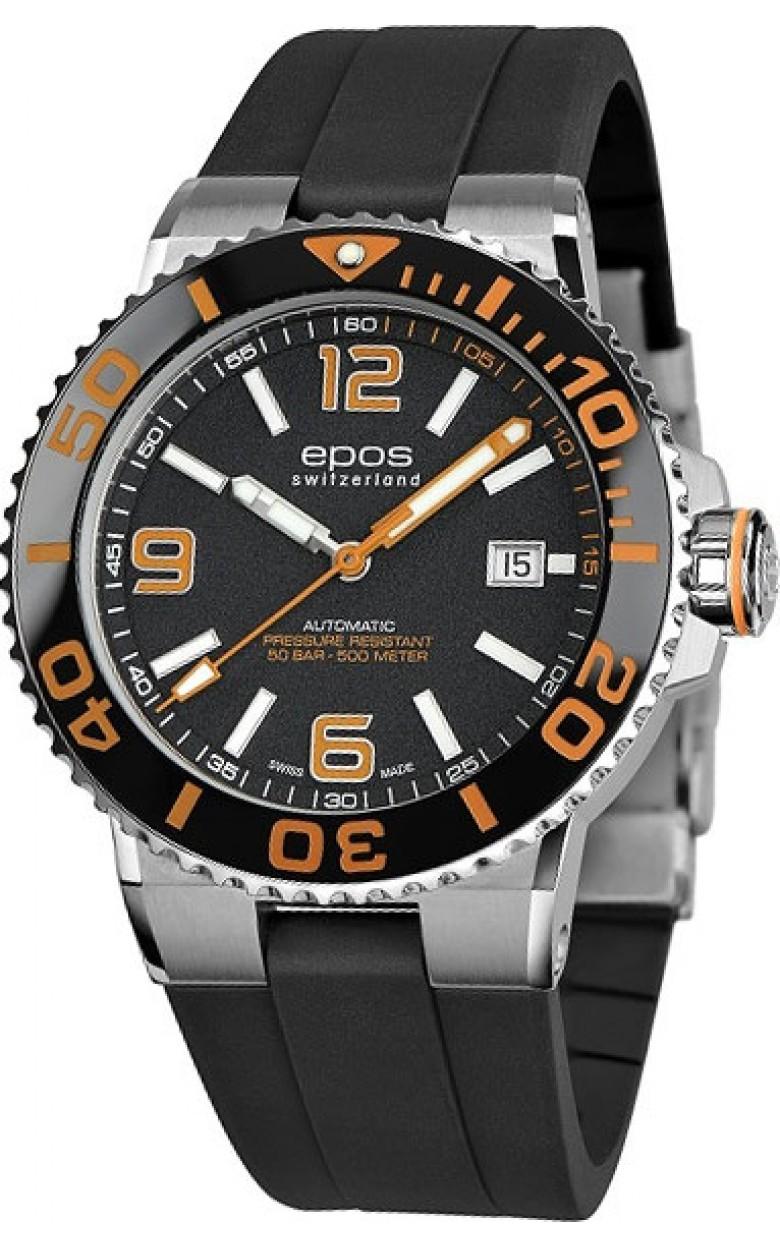 3441.131.99.52.55 швейцарские водонепроницаемые механические наручные часы Epos с сапфировым стеклом 3441.131.99.52.55