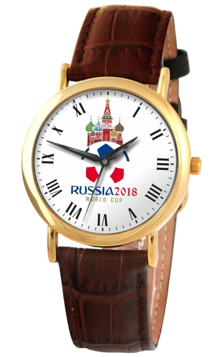 """1049914/2035  кварцевые наручные часы Слава """"Патриот"""" логотип Россия 2018  1049914/2035"""