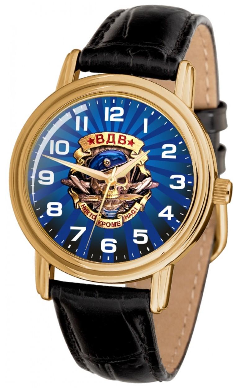"""1069768/300-2035  кварцевые часы Слава """"Патриот"""" логотип ВДВ  1069768/300-2035"""