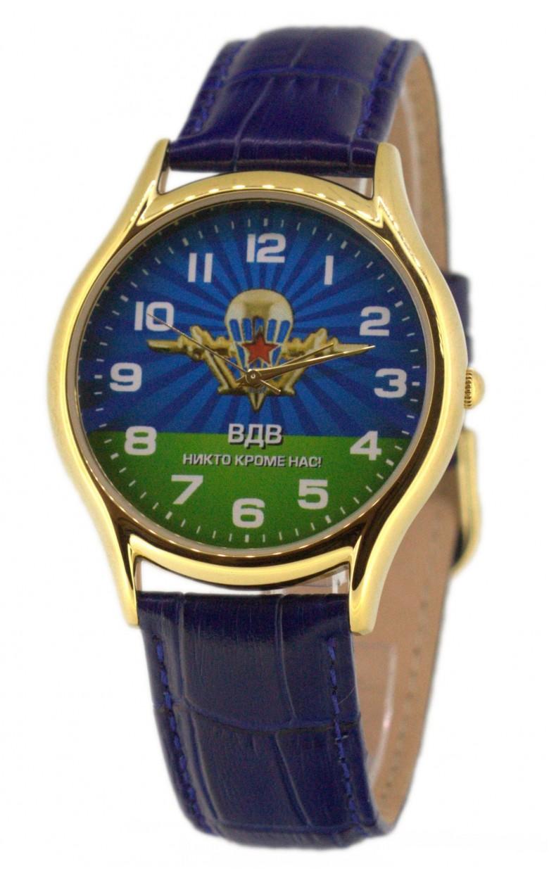 """1119771/2035  кварцевые часы Слава """"Патриот"""" логотип ВДВ  1119771/2035"""