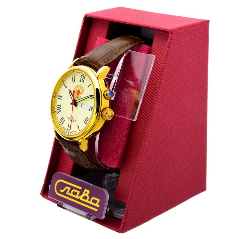 """1229695/300-2427 российские мужские механические наручные часы Слава """"Премьер""""  1229695/300-2427"""