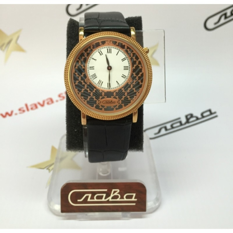 1343473/GL20 российские кварцевые наручные часы Слава