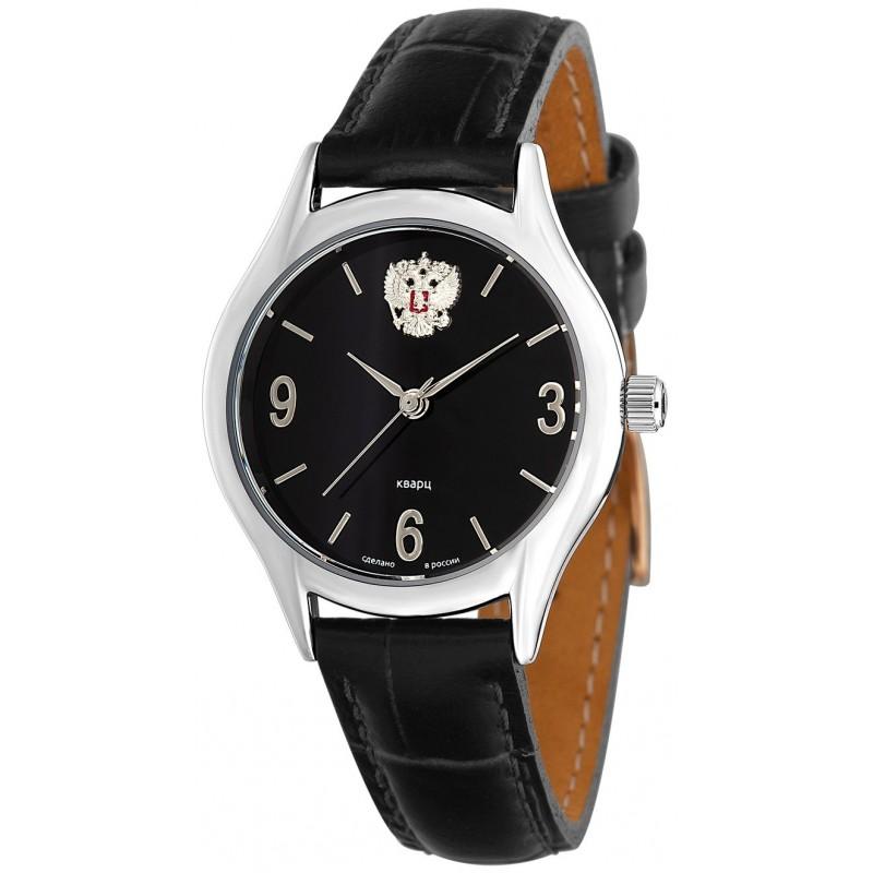 """1571808/300-2036 российские кварцевые наручные часы Слава """"Премьер"""" для мужчин логотип Герб РФ  1571808/300-2036"""