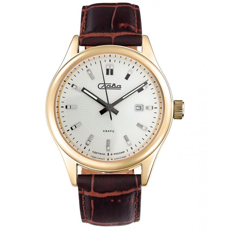 """1589800/300-2115 российские мужские кварцевые наручные часы Слава """"Традиция""""  1589800/300-2115"""