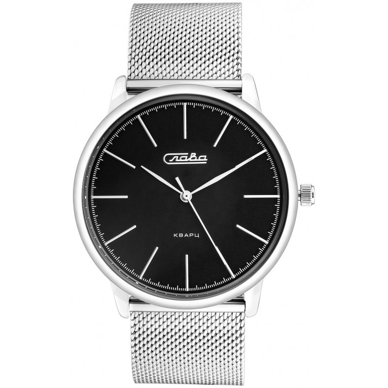"1721221/2035-100  унисекс кварцевые наручные часы Слава ""Традиция""  1721221/2035-100"