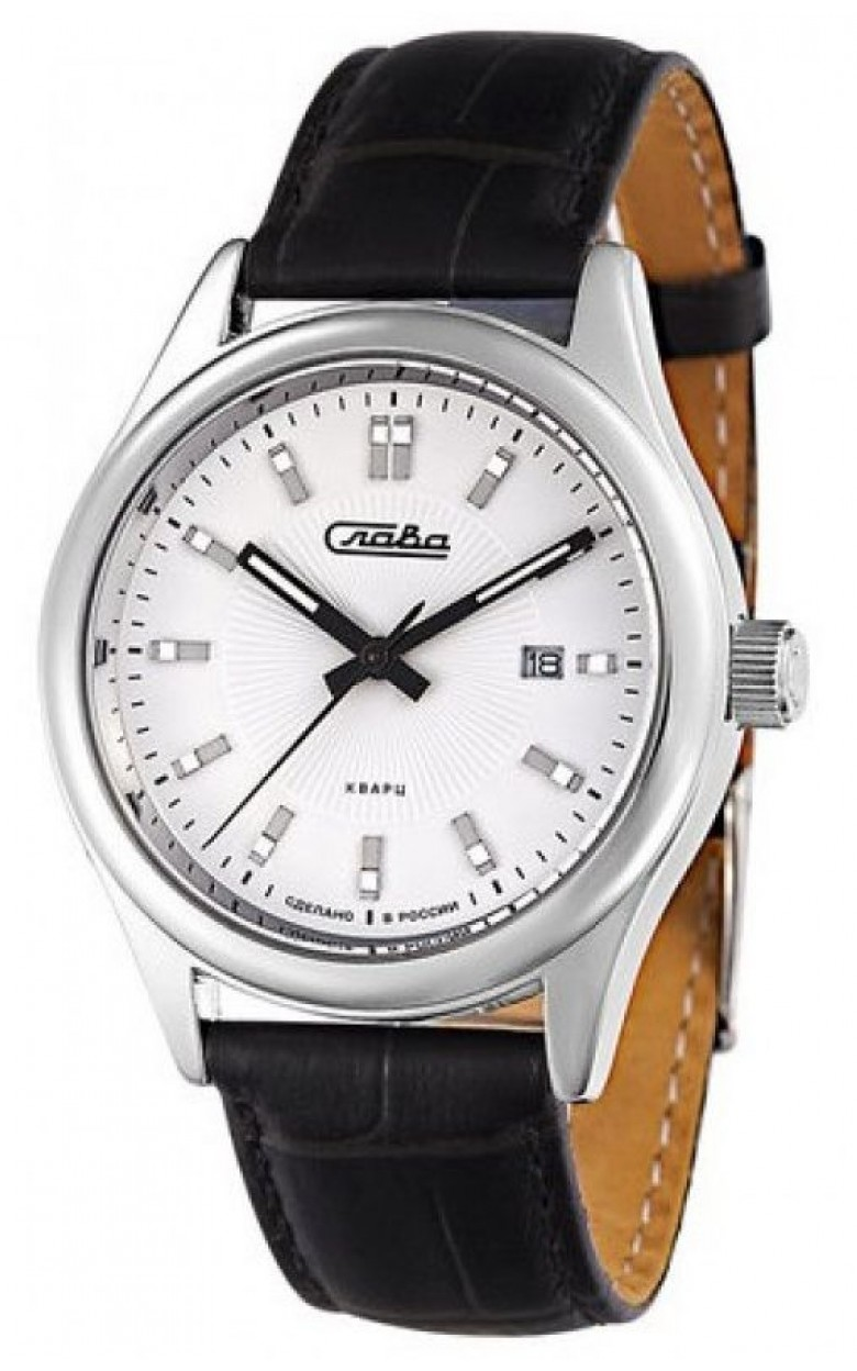 """1581800/300-2115 российские кварцевые наручные часы Слава """"Традиция"""" для мужчин  1581800/300-2115"""