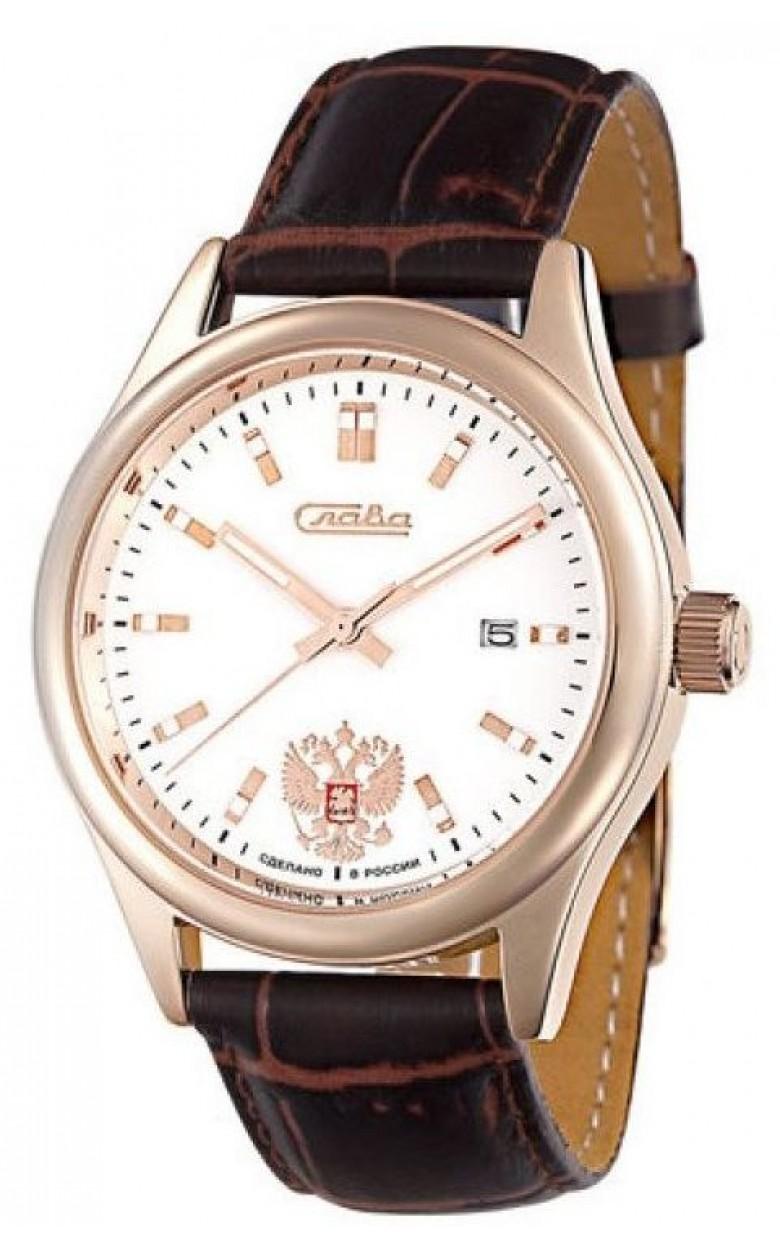 """1583804/300-2115  кварцевые наручные часы Слава """"Традиция"""" логотип Герб РФ  1583804/300-2115"""