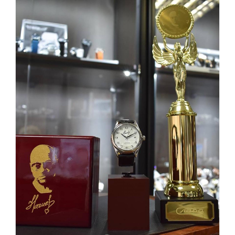 1490077/300-8215 российские мужские механические часы Слава логотип автограф Д.Нагиева  1490077/300-8215