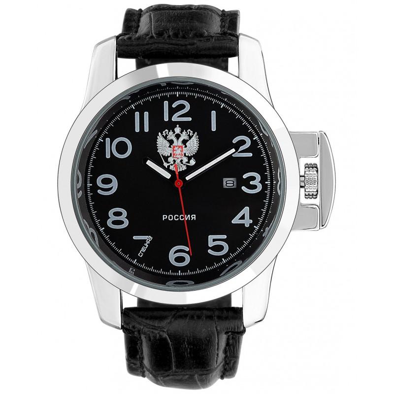 """С2951388-2115-300  кварцевые часы Спецназ """"Атака"""" логотип Герб РФ  С2951388-2115-300"""
